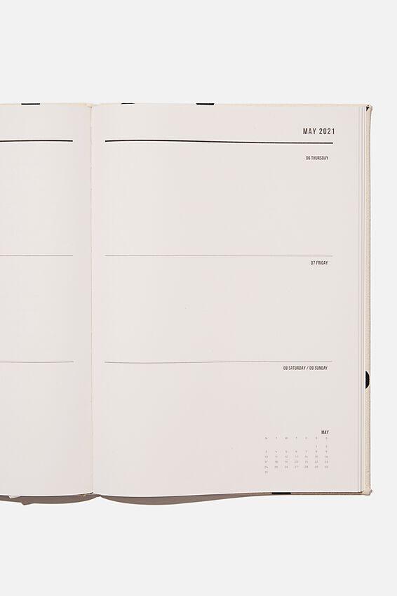 2021 A4 Oxford Weekly Diary, ECRU OVERSIZED POLKA
