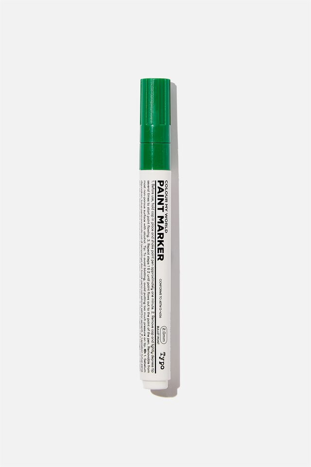 Thick Colour My World Paint Marker, GREEN