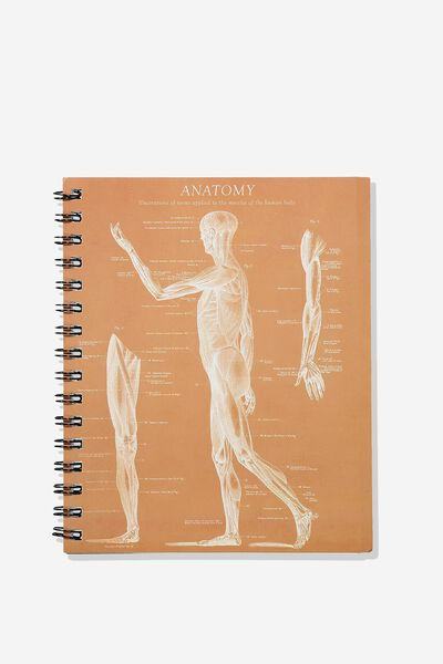 A5 Campus Notebook, SKELETON SIDE ANATOMY