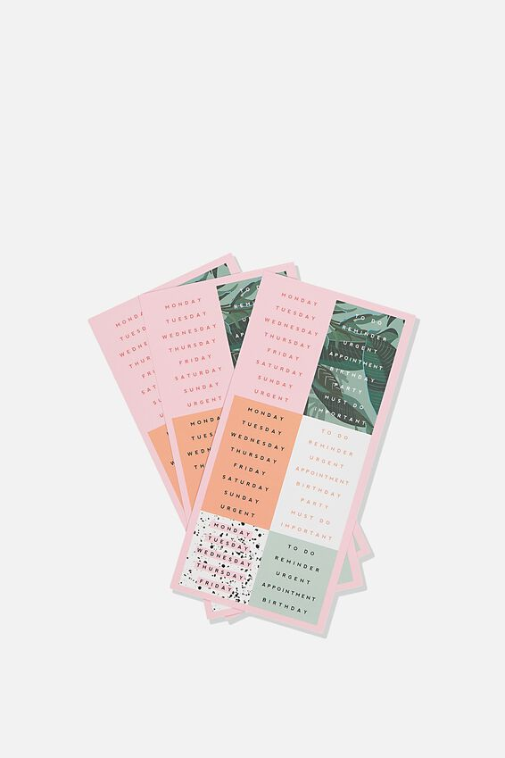Sticker Pack, SPLATTER & BONDI FOLIAGE