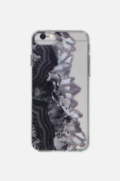 Transparent Phone Cover Universal 6,7,8, BLACK GEODES
