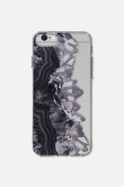 Transparent Phone Cover Universal 6,7,8, BLACK GEODES