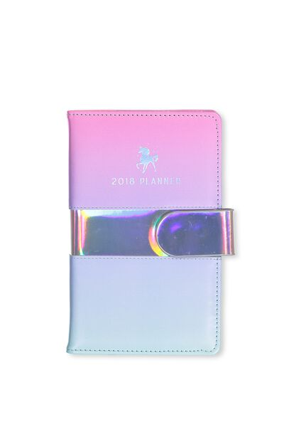 2018 Deluxe Diary, PINK BLUE OMBRE