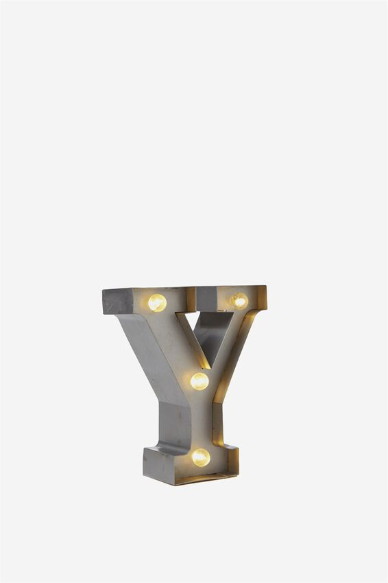 Mini Marquee Letter Lights 3.9inch, SILVER Y