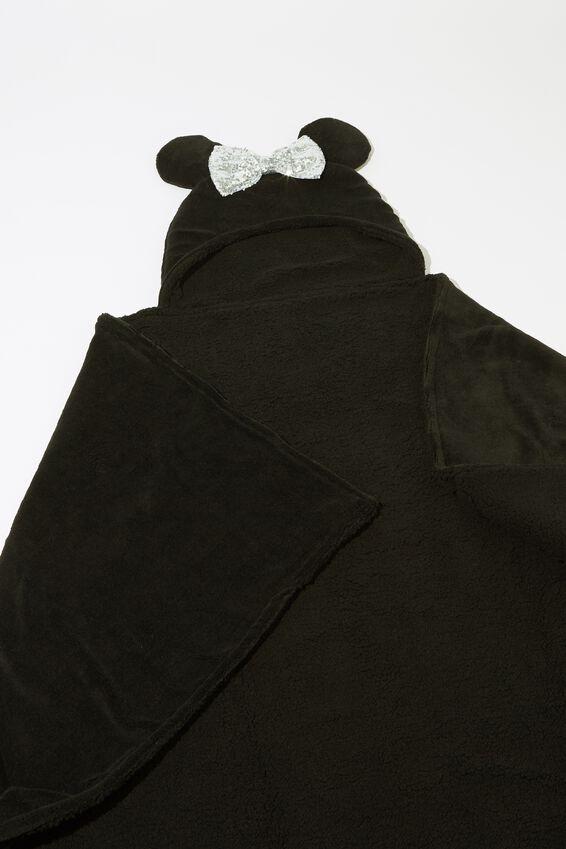 Premium Novelty Hooded Blanket, LCN DIS MK LIGHT UP MINNIE