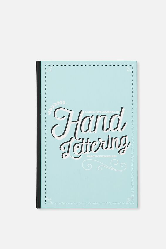 Activity Time Journal A5, BLUE HAND LETTERING