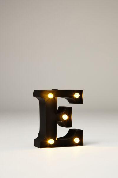 Mini Marquee Letter Lights 10cm, BLACK RUBBER E