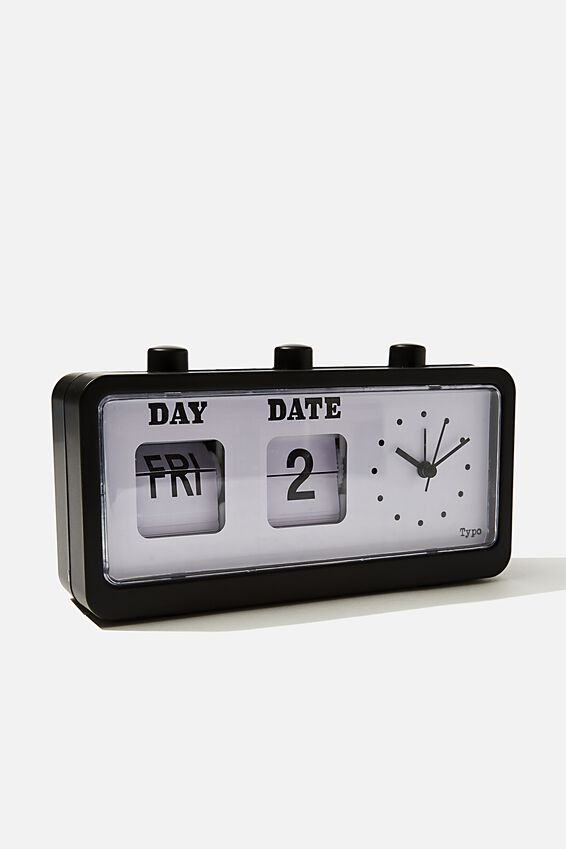 Retro Flip Clock, MATTE BLACK