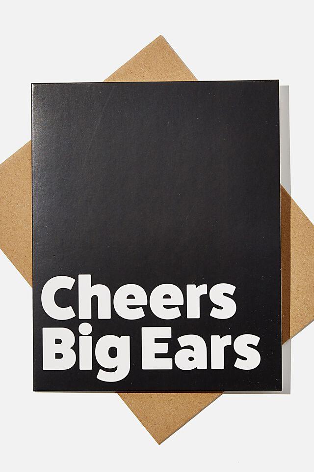 Nice Birthday Card, RG AUS CHEERS BIG EARS