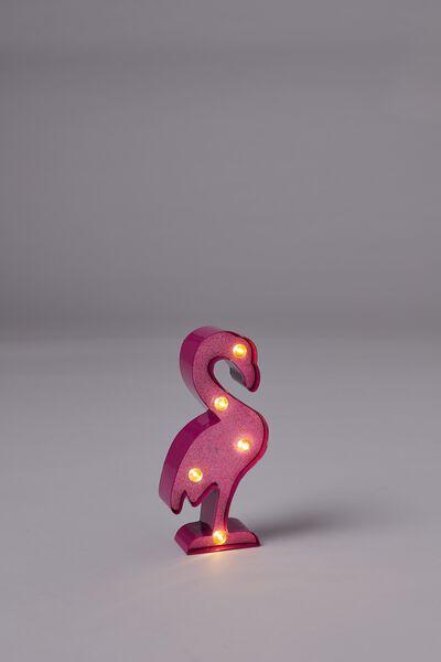 Shaped Mini Marquee Light, FLAMINGO