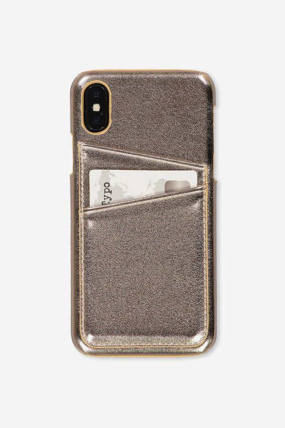Cardholder Phone Case Iphone X,Xs, ROSE GOLD
