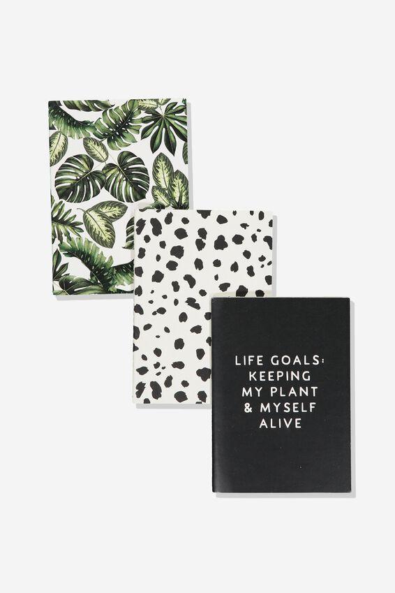 3Pk Small Notebooks, PALM SPOT