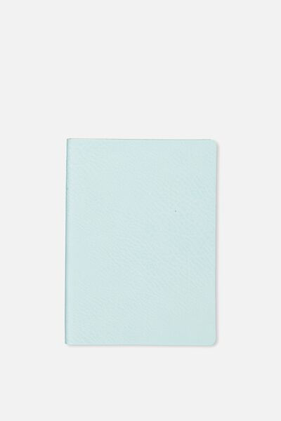 A6 Soft Cover Buffalo Journal - 176 Pages, LIGHT BLUE