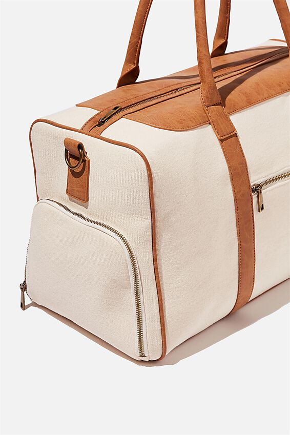 Nuevo Overnighter Bag, NATURAL AND MID TAN