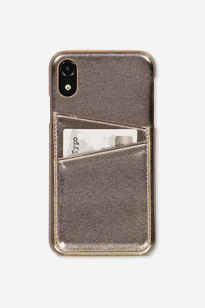 Cardholder Phone Cover Iphone Xr, ROSE GOLD