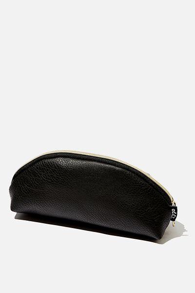 Curved Pencil Case, BLACK