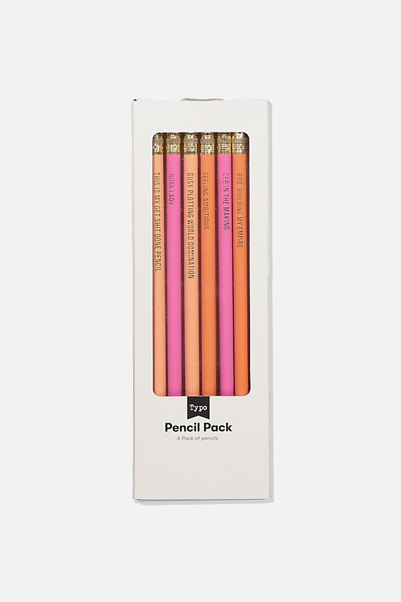 Quote Pencil 6Pk, BOSS LADY PINK!