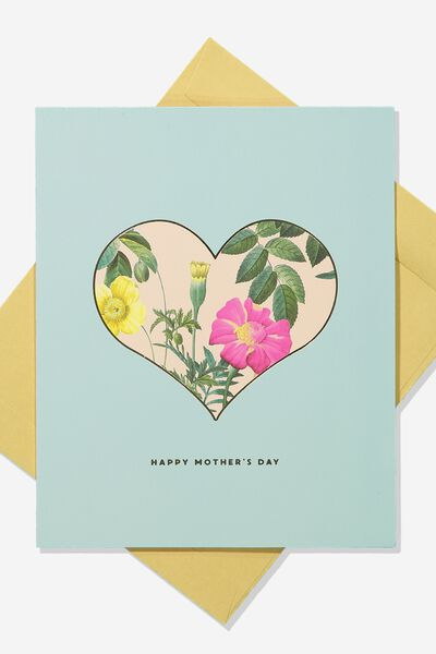 Mothers Day Card 2019, HEART FLORAL