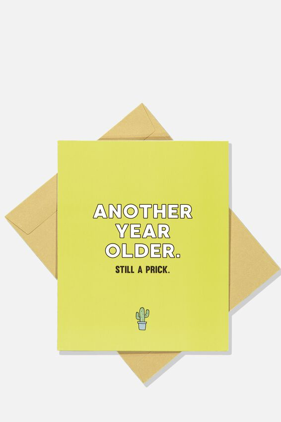 Funny Birthday Card, ANOTHER YEAR OLDER!