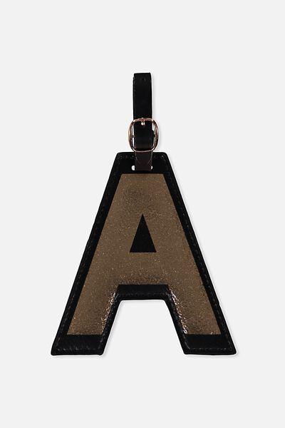 Shaped Alphabet Luggage Tag, A