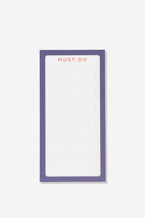 Make A List Note Pad, MUST DO NAVY