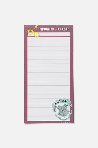 Make A List Note Pad, LCN WB HPO MISCHIEF MANAGED