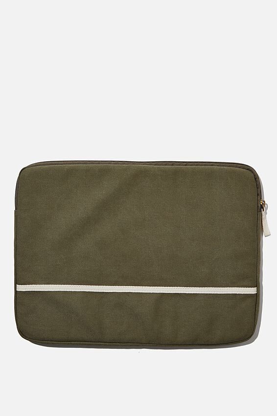 Canvas 15 Inch Laptop Case, WASHED KHAKI