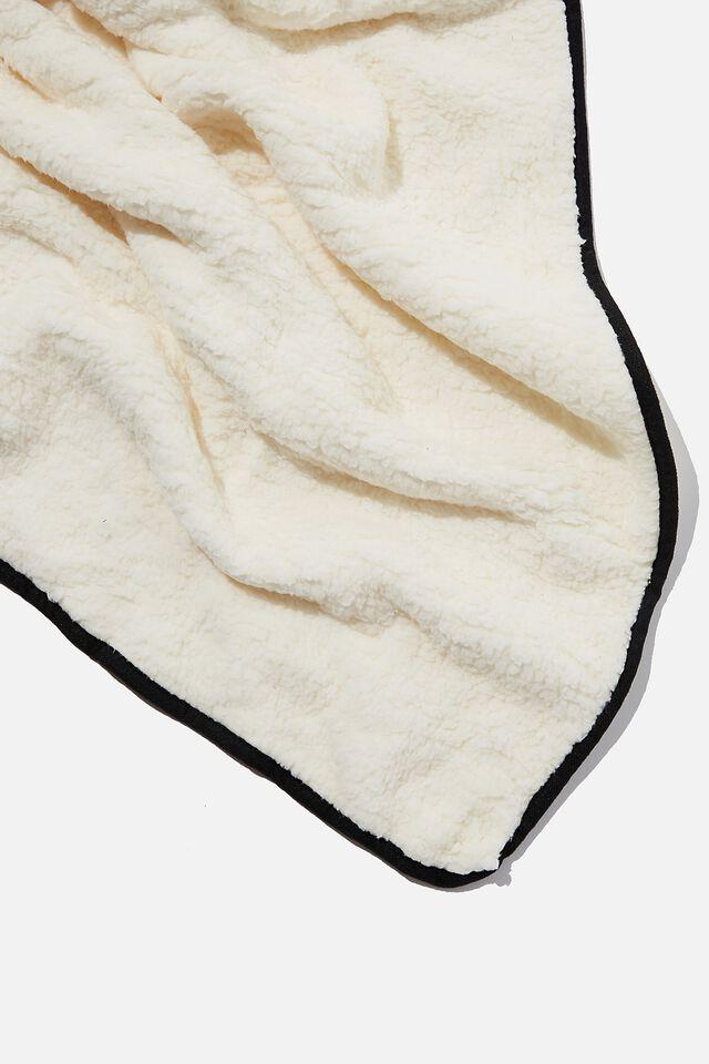 Convertible Cushion Throw, WARPED CHECKERBOARD BLACK