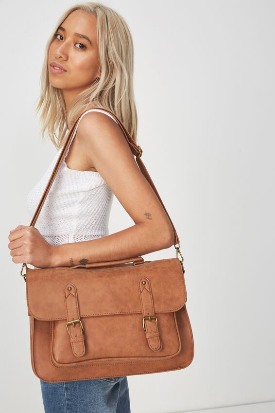 Satchel Bag, MID TAN