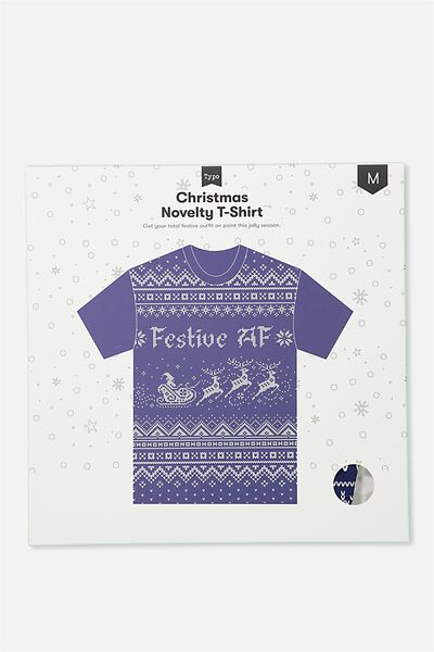 Novelty Tshirt, FESTIVE AF!