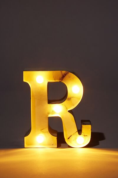 Mini Marquee Letter Lights 10cm, MARBLE R