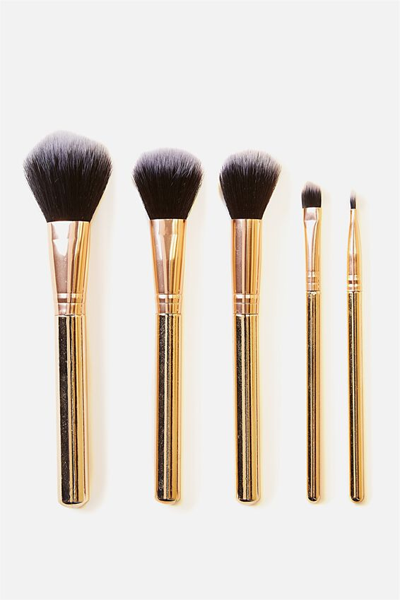 Makeup Brush Set, GOLD
