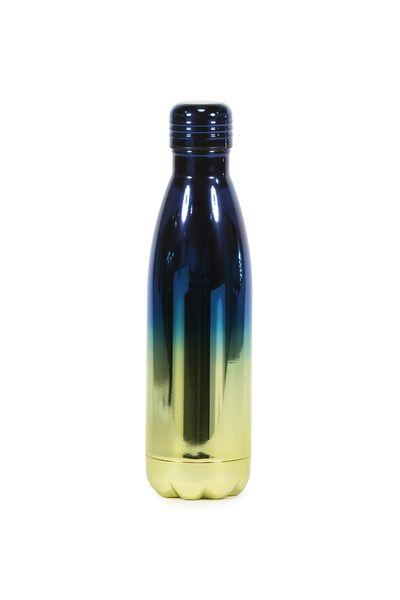 Metal Drink Bottle, UV GOLD/BLUE