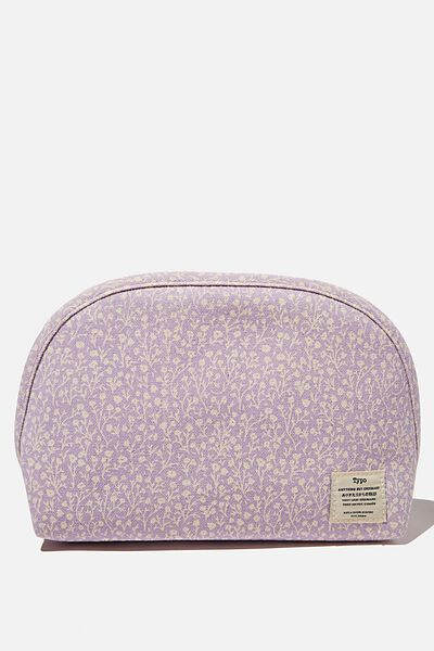 Canvas Essential Pouch, PALE LILAC MEADOW DITSY