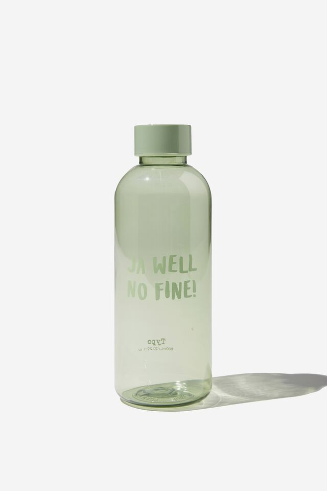 Recycled Daily Drink Bottle, RG JA WELL NO FINE!