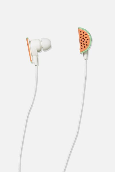 Novelty Earphones, WATERMELON