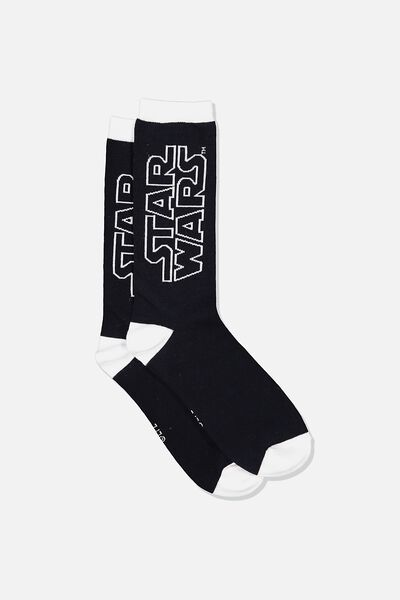 Mens Novelty Socks, LCN LU STAR WARS LOGO