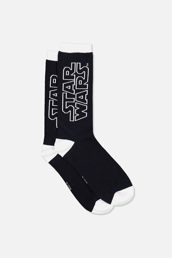 Mens Star Wars Novelty Socks, LCN LU STAR WARS LOGO