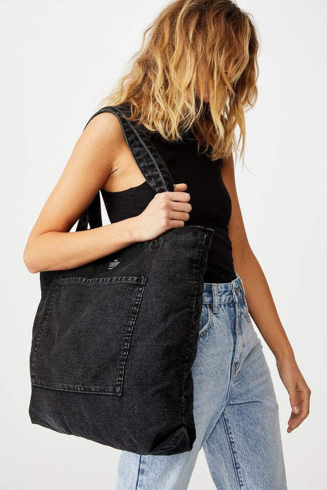 The Daily Tote Bag, WASHED BLACK