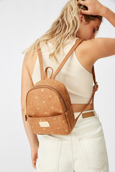 Mini Cairo Backpack, LCN DIS CL MID TAN