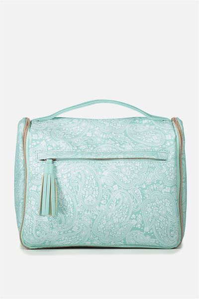 Hanging Toiletry Bag, BLUE LACE