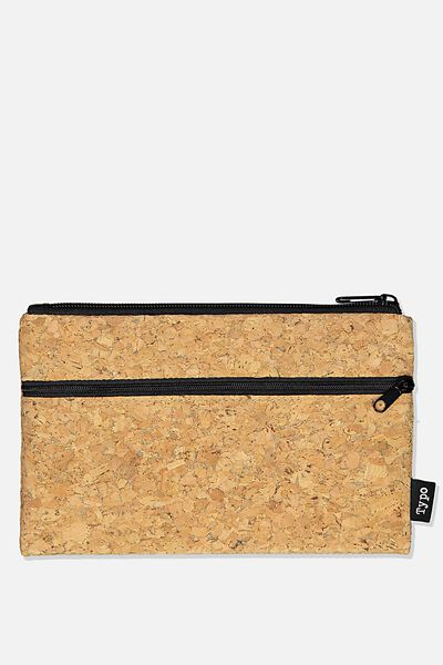 Archer Pencil Case, CORK