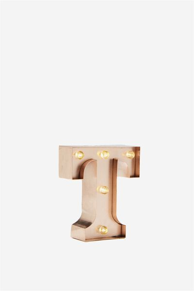 "Mini Marquee Letter Lights 3.9"", ROSE GOLD T"
