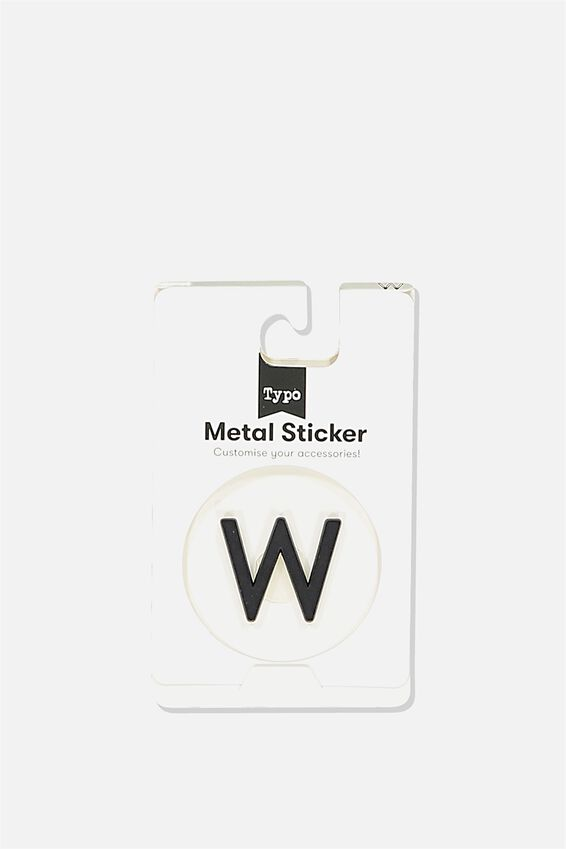 Metal Stickers, BLACK W