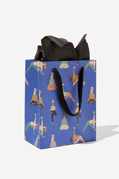 Small Gift Bag with Tissue Paper, YOGA PRINT