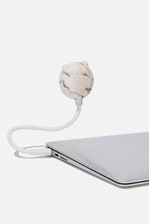 Led Wireless Usb Speaker, MARBLE
