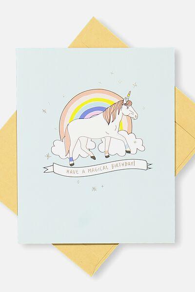 Nice Birthday Card, MAGICAL UNICORN BIRTHDAY