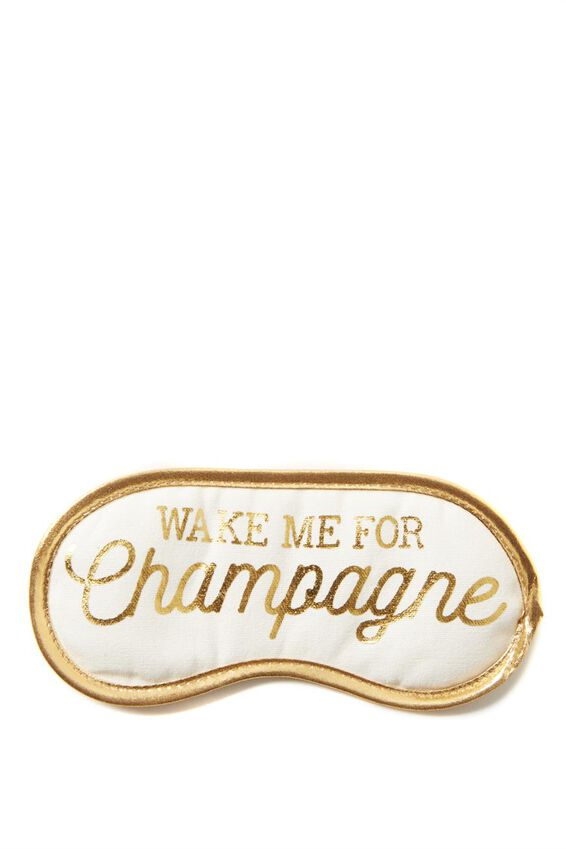 Easy On The Eye Sleep Mask, CHAMPAGNE