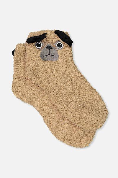 Slipper Sock, PUG