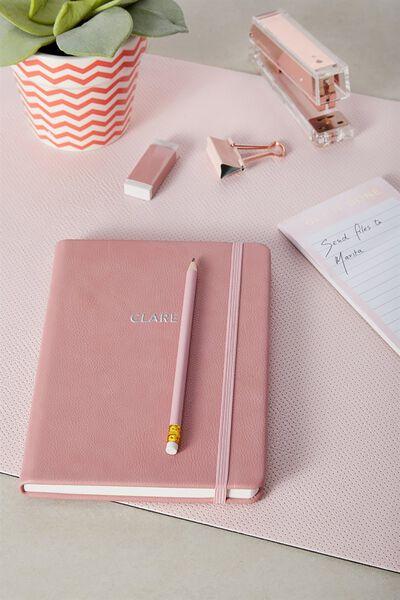 Personalised A5 Buffalo Journal, ROSE PINK